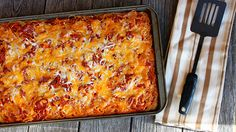 Combine two family favorites—spaghetti and pizza—with this cheesy, wow-worthy Italian-inspired meal.