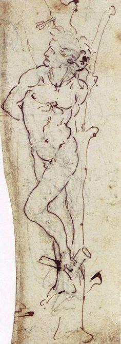 56 dessins de Leonard De Vinci dessin leonard de vinci saintsebastian 33
