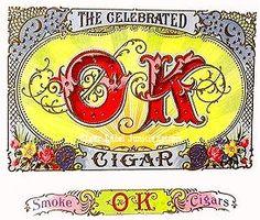 OK Cigars cigar box label
