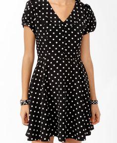 Collared Polka Dot Dress | FOREVER21 - 2000046166
