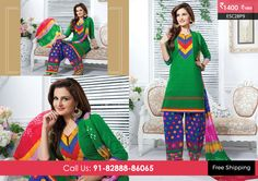 Beautiful Green Blue Patiyala Suit at Rs1400 Only Visit http://enasasta.com/deal/green-blue-patiyala-suit OR Call/WhatsAp-8288886065  Product Code : -ESC28P9  Deal is Valid For Today Only  Top:Cotton Bottom: Cotton Embriodered Dupatta: Chiffon Work: Embriodery Fabric : Unstitched  Get 5% Extra Discount for Advance Payment on every Deal  Cash On Delivery Available ! FREE Shipping!!