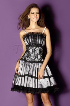 Charming A-line Mini/Short Spaghetti Straps Sandra's Prom Homecoming Dress