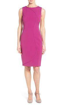 Halogen seam detail sheath dress via @corporette