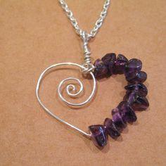 Amethyst Spiral Heart...EASY