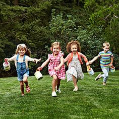 Gather the kids for an outdoor egg-decorating party -- complete with games, crafts, and good times for all!