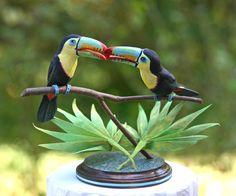 Sweetheart Keel Billed Toucan Wedding Cake Topper