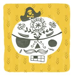 Skull pirate by Sarah Walsh @unicornpoo