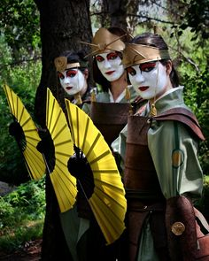 Kyoshi warriors from Avatar: The Last Airbender!