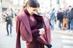 miraslava duma, editor style, blogger style, fashion week, street style, style, fashion.  Love these colors!