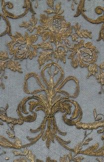 www.facebook.com/cakecoachonline - sharing....Fine blue and gold antique fabric