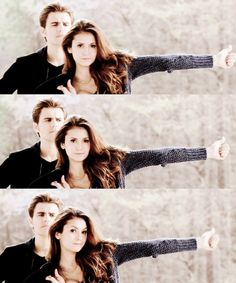 Tvd 5x21 ~ Promised Land ~ stelena ~ god damn she's beautiful..... And stefan's face is just hilarious