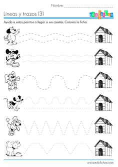 Crafts,Actvities and Worksheets for Preschool,Toddler and Kindergarten.Lots of worksheets and coloring pages. Educational Activities, Learning Activities, Preschool Activities, Kids Learning, Tracing Worksheets, Preschool Worksheets, Pre Writing, Writing Skills, Preschool Lessons
