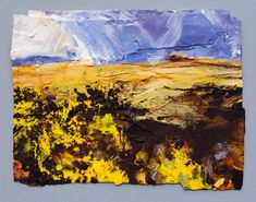 GORSE AND PIL TOR (DARTMOOR) 2016 by DAVID TRESS, Price: £3200.00, Medium: Mixed Media on paper, Size: 34x44cm