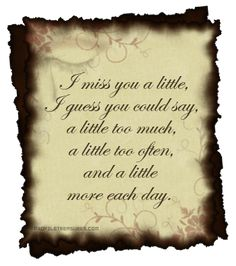 Missing You Quotes Death | Picture World: Miss You Quotes