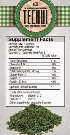 Iaso Techui. Spirulina Health Benefits: http://wellnessmama.com/4738/spirulina-herb-profile/
