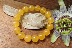 Orange Calcite Bracelet by SheEarth on Etsy When You Feel Alone, Gemstone Jewelry, Unique Jewelry, Bracelet Sizes, Orange Color, Rocks, How Are You Feeling, Gemstones, Texture