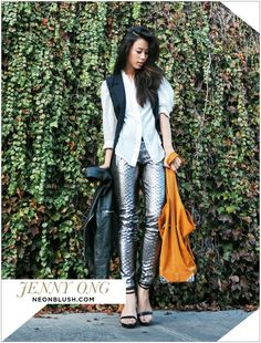 See how Jenny Ong from Neon Blush styles @A|X Armani Exchange!