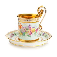 An EmilyInGondal Pin: A Sèvres cabinet cup and saucer 1848 Tea Cup Set, My Cup Of Tea, Tea Cup Saucer, Tea Sets, Antique Tea Cups, Vintage Cups, Teapots And Cups, Objet D'art, Tea Time