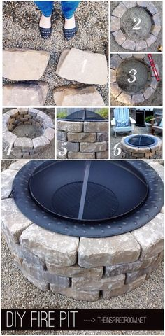 DIY Fire Pit - I should try this with my copper one that's been a decoration for like 10 years lol