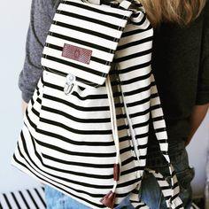 Plecak w paski od House Doctor to kolejna wiosenna nowość w Smukke! Pojemny i piękny,  idealny do miasta na spacer, do pracy, na piknik! #nowoścismukke #housedoctor #plecakhousedoctor #skandynawskiedodatki #jestpieknie #jestsmukke #skandynawskisklep #smukkepl