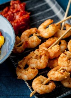 paprika grilled shrimp and sausage skewers with smoky paprika glaze ...