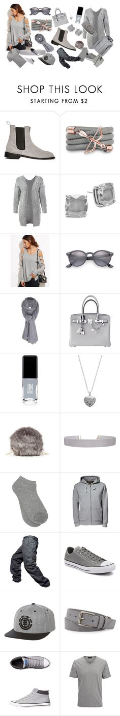 """""""Fashion by Franco Florenci"""" by oldcastlechrista ❤ liked on Polyvore featuring Monza, Sans Souci, Kate Spade, WithChic, Ray-Ban, Care By Me, Hermès, JINsoon, Silver Expressions by LArocks and Sole Society"""