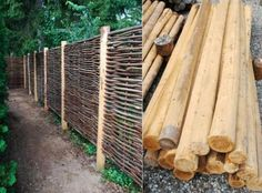 Their handcrafted hurdle fence panels are woven from the coppice wood of the hazel tree.