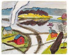 Gabriele Münter - Scandinavian landscape