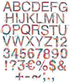 Filyenius Font letters