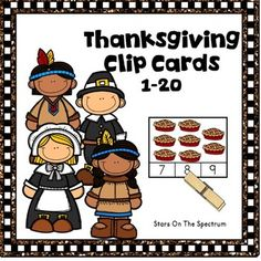 Thanksgiving Clip Cards  for counting and matching sets of 1-20 objects with a fun  theme.  Use for Thanksgiving centers, partner work or individual work.More Thanksgiving Math ProductsThanksgiving MathThanksgiving MathThanksgiving MathThanksgiving MathOther Thanksgiving ActivitiesThanksgiving  WritingThanksgiving  WritingPumpkinsPumpkinsPumpkins