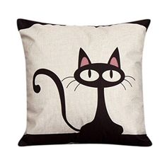 Pillowcase Ammazona Throw Pillow Case Sofa Waist Pillowcases Car Cushion Cover Home Decor Cat -- You can find more details by visiting the image link.
