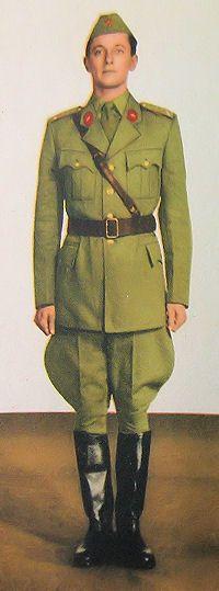 1959 pattern Czechoslovak People's Army (ČSLA) officers' summer service uniform.