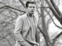 Light grey wool suit, £175 Light grey wool roll-neck, £24, both by Topman