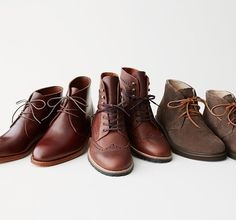 Rugged boots by top brands, including artfully distressed footwear by the buzzed-about Belgian label