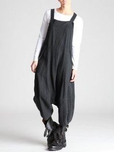 Lurdes Bergada Woolly Thick Cotton Overalls - I'm GETTING these, hell or high water! Girl Fashion, Fashion Outfits, Womens Fashion, Fashion Design, Kinds Of Clothes, Clothes For Women, Look Boho, Mode Style, What To Wear