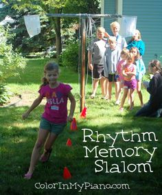 Rhythm Memory Slalom (and other musical game ideas). Musical Olympic Camp. Color my Piano.