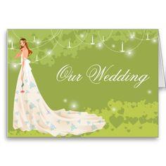 Green Wedding Invitation Greeting Card