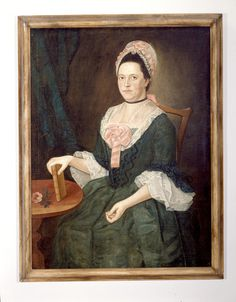 ; Portrait of Hannah (Choate) Lathrop | Art | Attributed to Durand, John (Maker) | 1991.166.2 -- Historic New England  Title