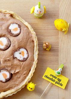Creme Egg chocolate quiche
