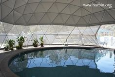 Inside a water dome. Unknown