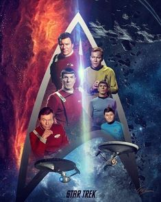 Galaxy exploration by the Starfleet representatives (a crew of a spaceship or station and its adventures). Star Trek Day, Star Trek Crew, Film Star Trek, Star Wars, Star Trek Voyager, Star Trek Enterprise, Star Trek Original Series, Star Trek Series, Star Trek Wallpaper