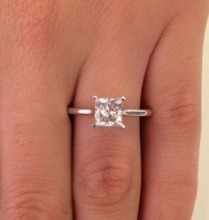 Ct Princess Cut Diamond Solitaire Engagement Ring White Gold for sale online Princess Wedding Rings, Wedding Rings Solitaire, Princess Cut Rings, Princess Cut Engagement Rings, Vintage Engagement Rings, Diamond Engagement Rings, Diamond Rings, Solitaire Diamond, Bridal Rings