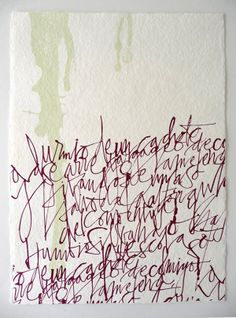 Silvia Cordero Vega calligraphy, via Passion For Paper & Print