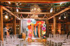 Rainbow Aisle Backdrop Gena + Tony » Lara Hotz Photography