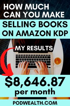 Discover how I've managed to make $8,646.87 per month and how much can you make on Amazon KDP with my step-by-step training!
