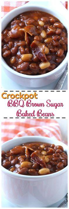 Crockpot BBQ Brown Sugar Baked Beans / myfindsonline.com