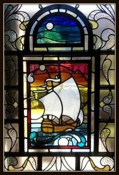 Stained glass galleon 2.