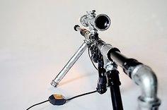 Retro Industrial Gun Shape Water Pipe Desk Lamp Bar Bedroom Originality Light