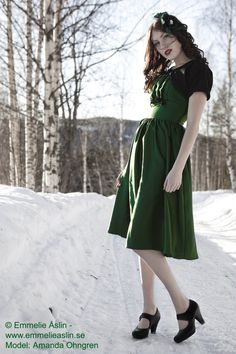 Green 1950s Dress with Bolero 50s Dress Vintage Inspired by p1xie, $195.00