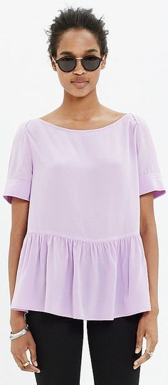 A Rachel Comey Silk Longfellow Blouse to keep pastels in your wardrobe all Spring long.